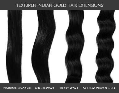 Indian Gold Hairextensions Texturen