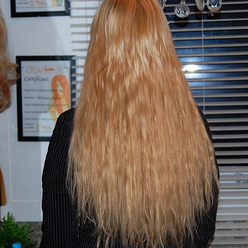 hairextensions van kort naar lang